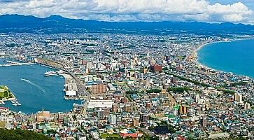 Panorama della città di Hakodate.