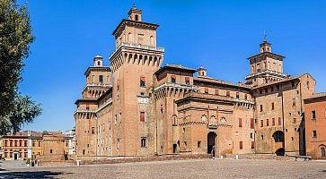 Estense castle of Ferrara. Emilia-Romagna. Italy.