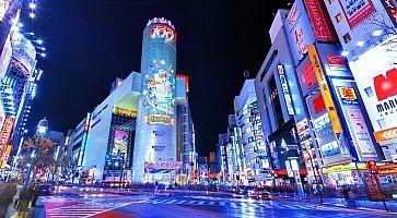 L'incrocio dove si trova il famoso negozio Shibuya 109.