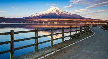 Mt.Fuji with Lake Yamanaka, Yamanashi, Japan