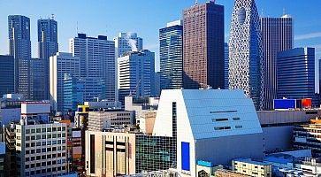 Vista dei grattacieli della zona di Shinjuku Sud ed Ovest.