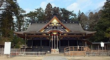 Osaki Hachimangu Shrine in Sendai, Japan
