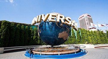 Il logo degli Universal Studios, all'ingresso dell'omonimo parco ad Osaka.