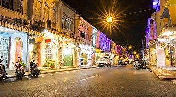Thalang Road, The old phuket town, Thailand.