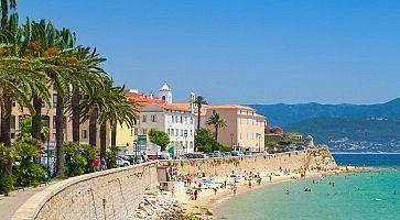 Ajaccio, Corsica, France. Coastal cityscape