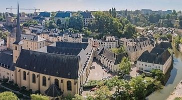 Luxemburg medieval city with surrounding walls