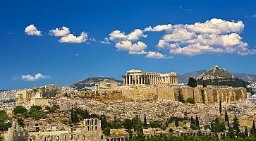 Skyline of the city of Athens