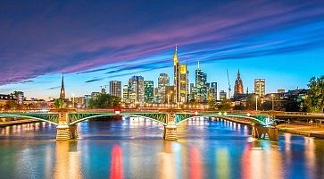 View of Frankfurt city skyline in Germany
