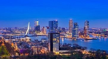 Rotterdam at Twilight from Euromast