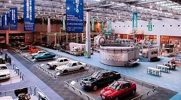 Old classic vintage car models exhibit at Toyota museum Nagoya -