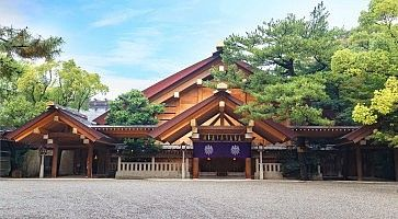 Esterno del santuario shintoista Atsuta, a Nagoya.