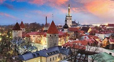 Tallin city, Estonia at sunrise