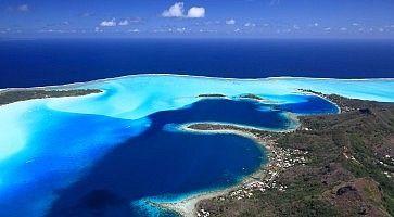 Bora Bora from above