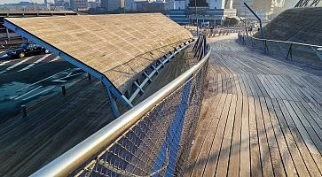 Yokohama, Japan - November 24 2015: Osanbashi Pier is the main international passenger pier in Yokohama. The pier is also known as one of the best places to see the Yokohama Three Towers