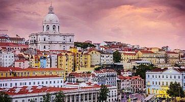 Lisbon, Portugal Skyline at Alfama