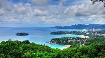 La vista di Phuket dall'alto.