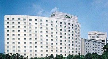L'edificio del Tobu Hotel, nei pressi dell'aeroporto di Narita.