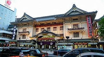 Il teatro Kabuki-za a Ginza.