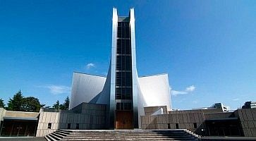 Esterno della cattedrale di Santa Maria a Tokyo.